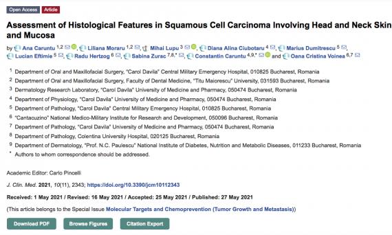 screenshot cu articol in revista journal of clinical medicine