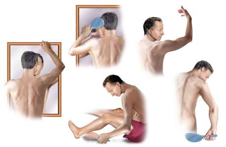 auto-examinarea autoexaminarea pielii pacientului in oglinda